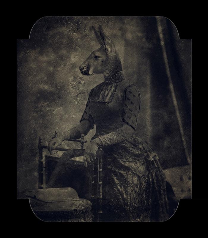 Eva Fernandez, A kangaroo lady with boomerang, 2018, 80x70cm