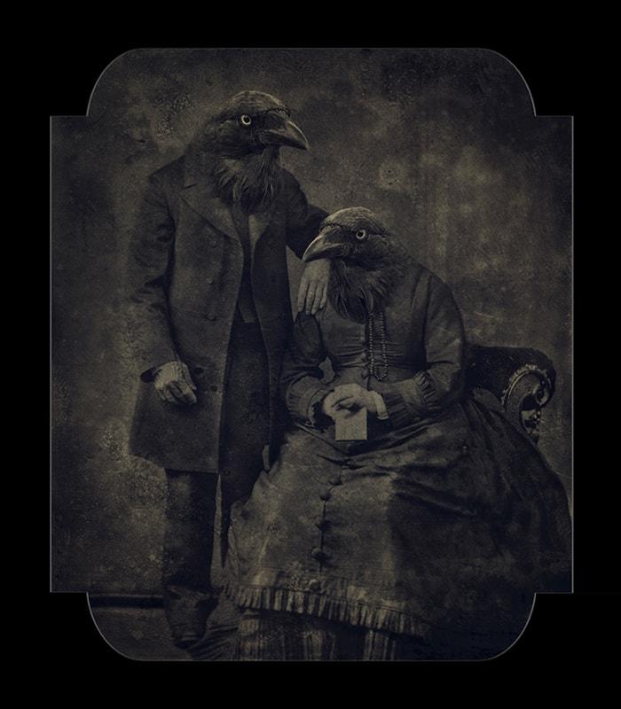 Eva Fernandez, Raven couple, 2018, 80x70cm