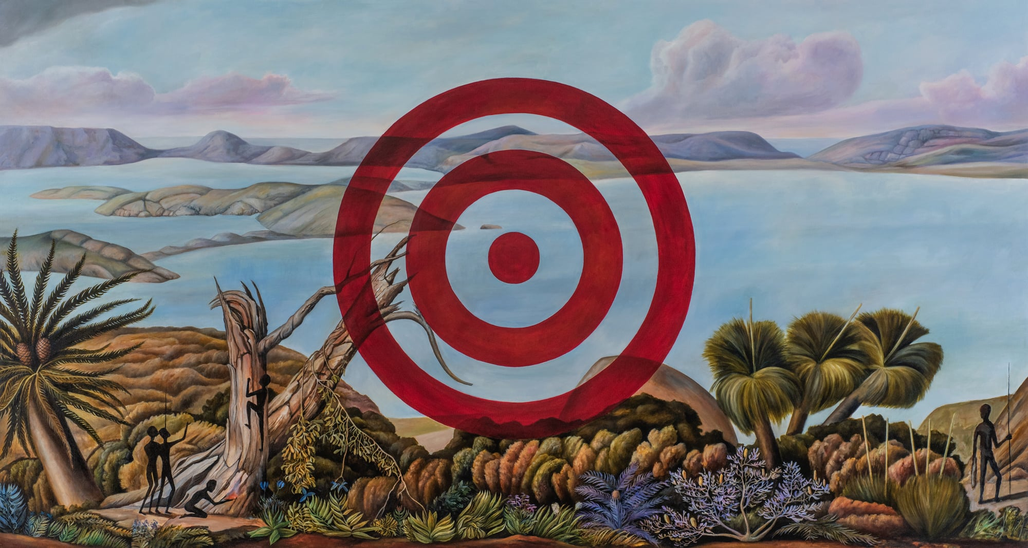 Christopher Pease, Target 3, 2018, 155x290cm
