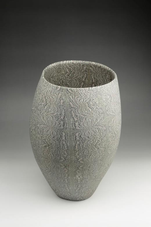 David Pottinger, Nerikomi Vessel (12), 2016, 29cm High
