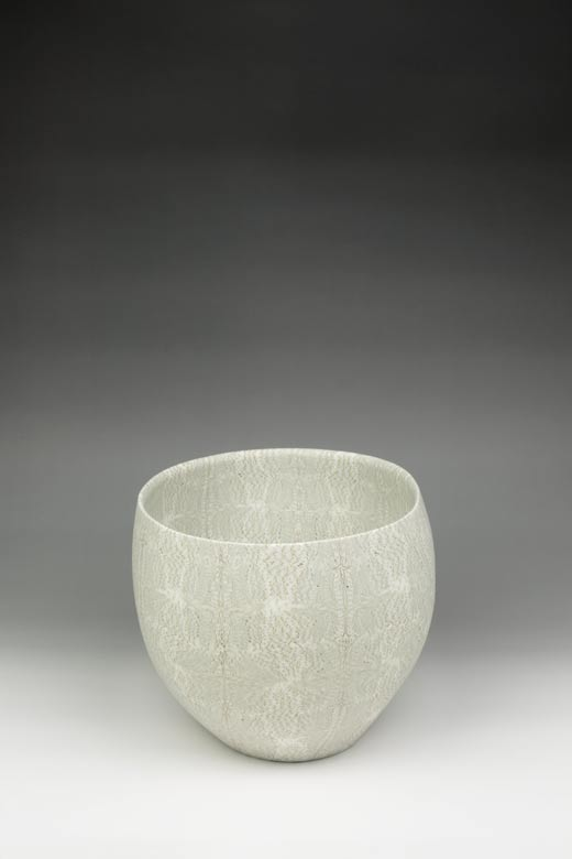 David Pottinger, Nerikomi Bowl (18), 2015, 17.5cm High