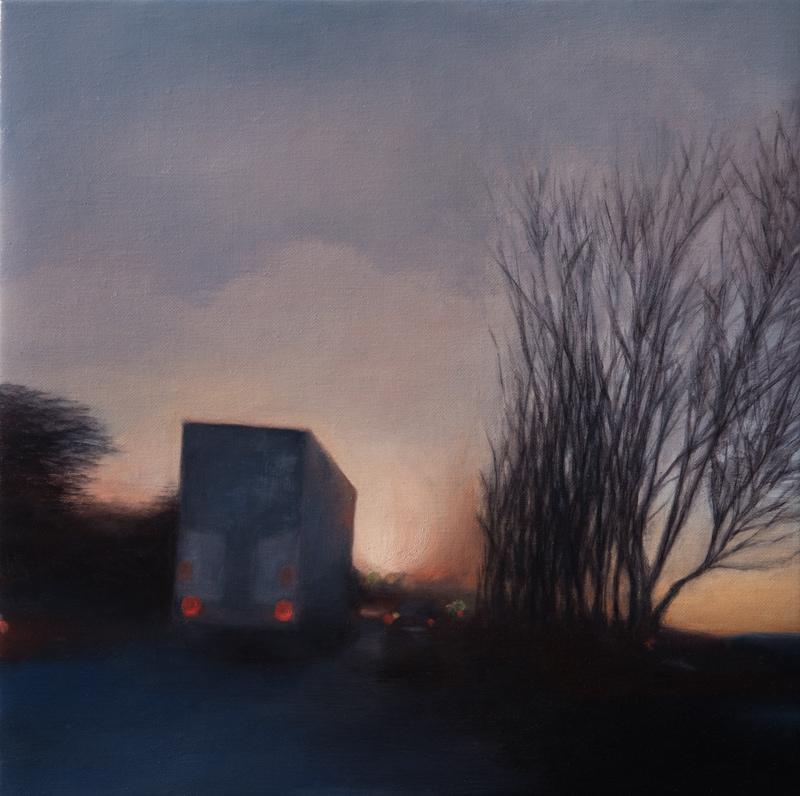 Kirrily Hammond, Armadale, oil on linen, 31x31cm
