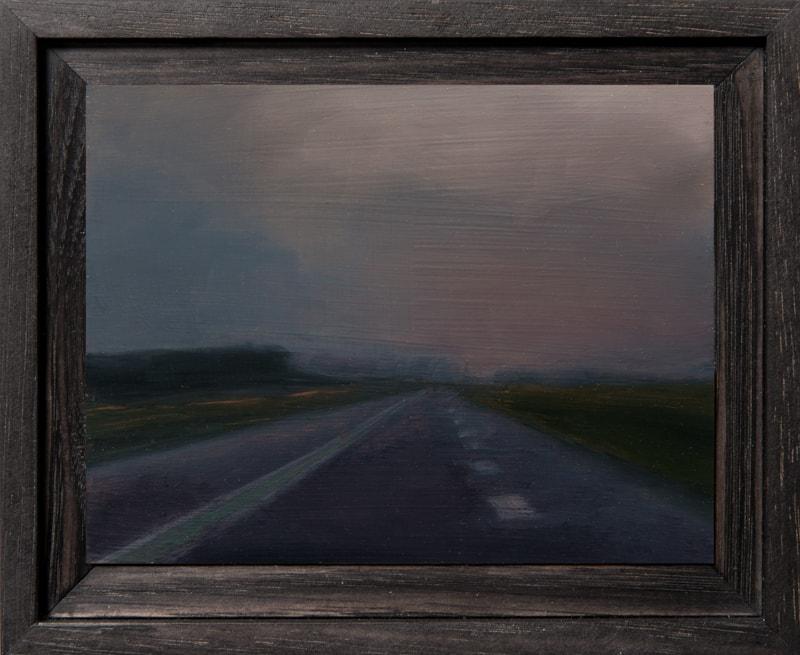 Kirrily Hammond, Autobahn II, oil on copper, 9x12cm