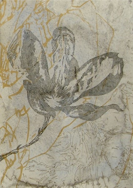 Belinda Fox, Bloom II, Intaglio, screenprint, hand staining on paper, 91x70cm, ed of 15