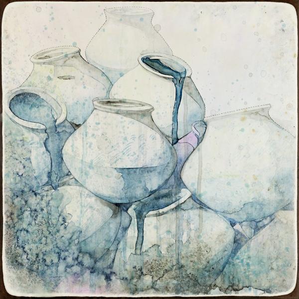 Belinda Fox, Empty Vessel ii, 2018, 41x41cm
