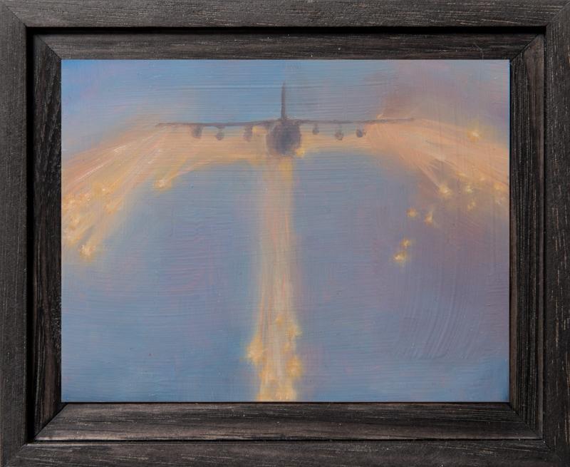 Kirrily Hammond, Break up, oil on copper, 9x12cm