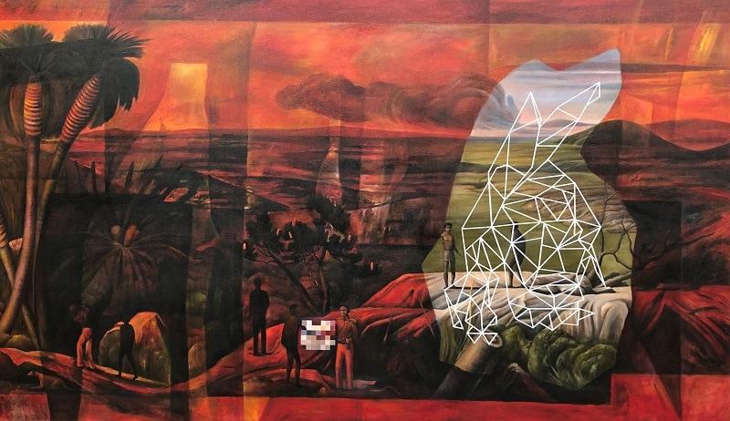 Christopher Pease, Handshake, 2018, 170x290cm