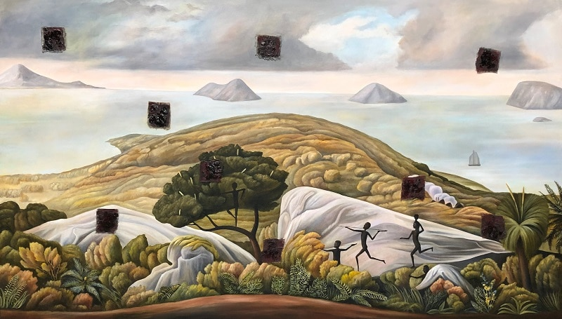 Christopher Pease, Hunting Party, 2018, 170x290cm