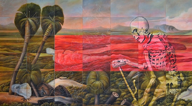 Christopher Pease, Reaper, 2017, 168x294cm
