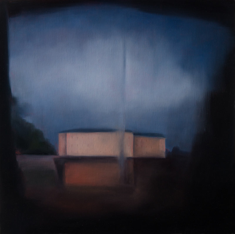 Kirrily Hammond, Cisterne, Copenhagen, oil on linen, 46x46cm