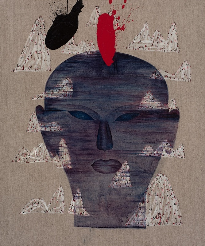 Dadang Christanto, Torture 2, 2014, 90x60cm