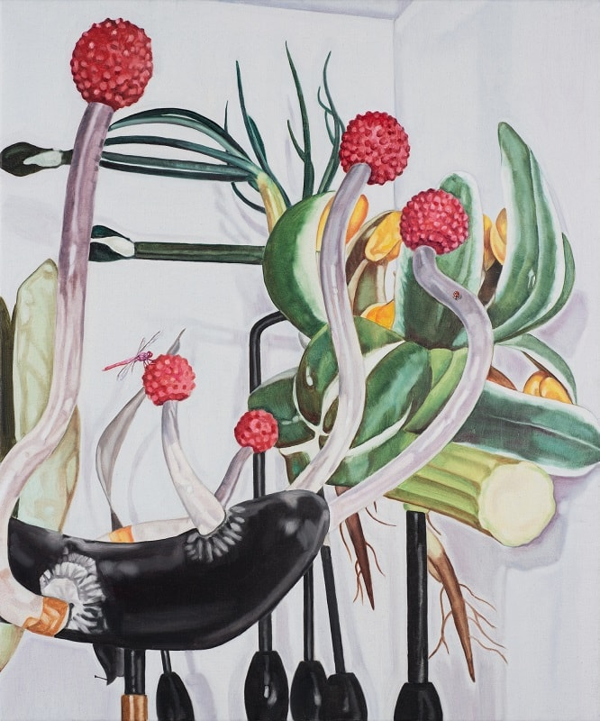 Dena Kahan, Still life with dragonfly and ladybird
