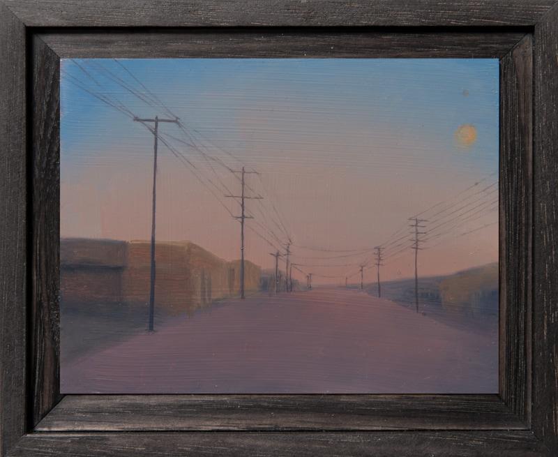 Kirrily Hammond, Donald St, oil on copper, 9x12cm