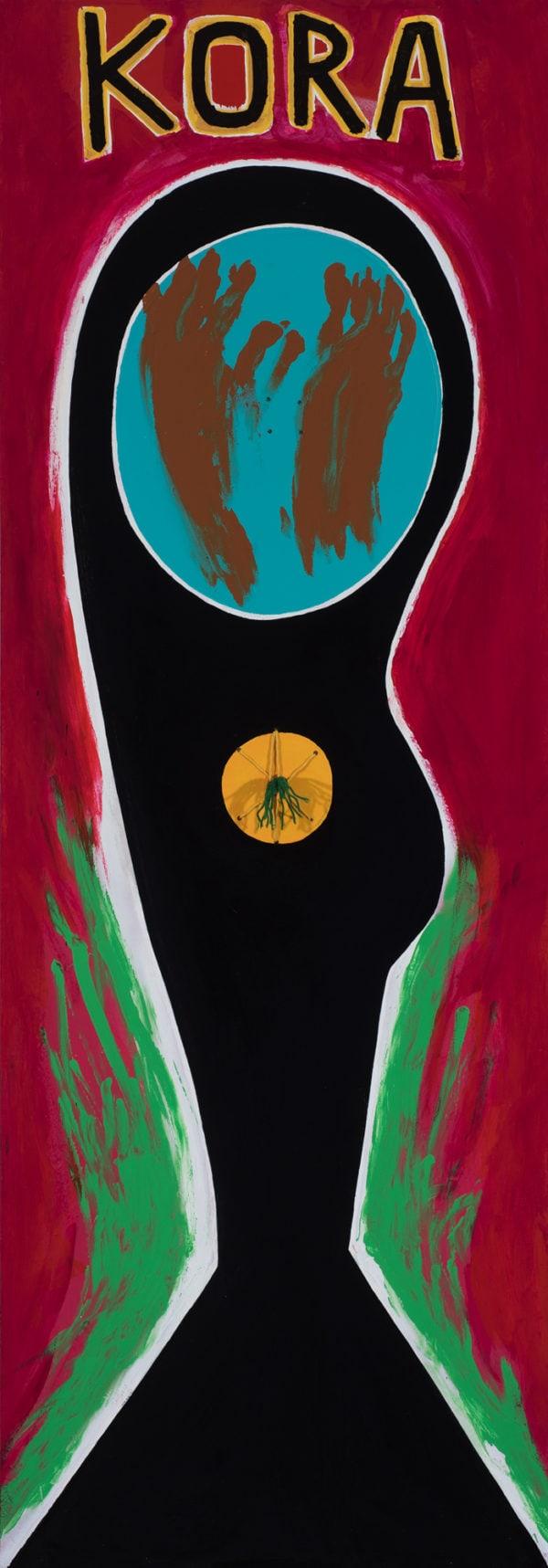 Eric Bridgman, Kora (front), 170x60cm