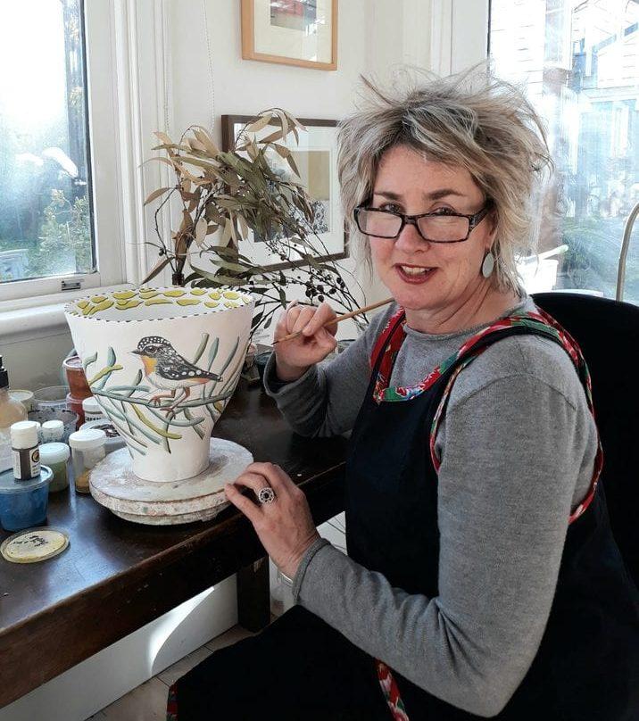 Fiona Hiscock, In Her Studio, 2020