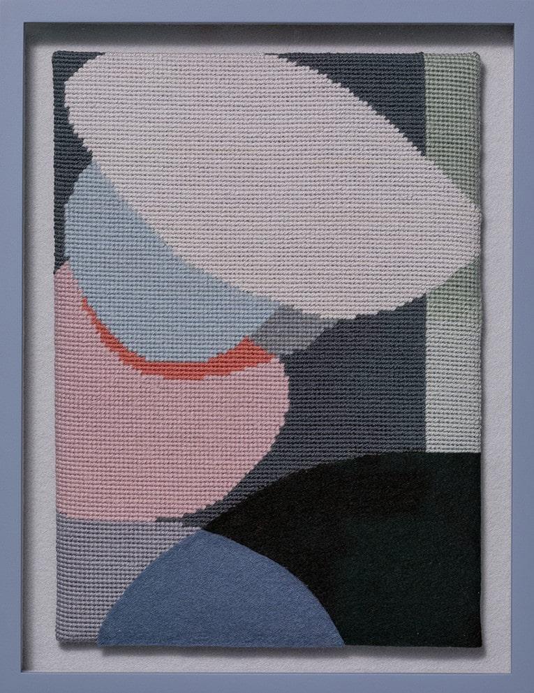 Jennifer Goodman, Lana 2, tapestry and felt, 35x25cm framed