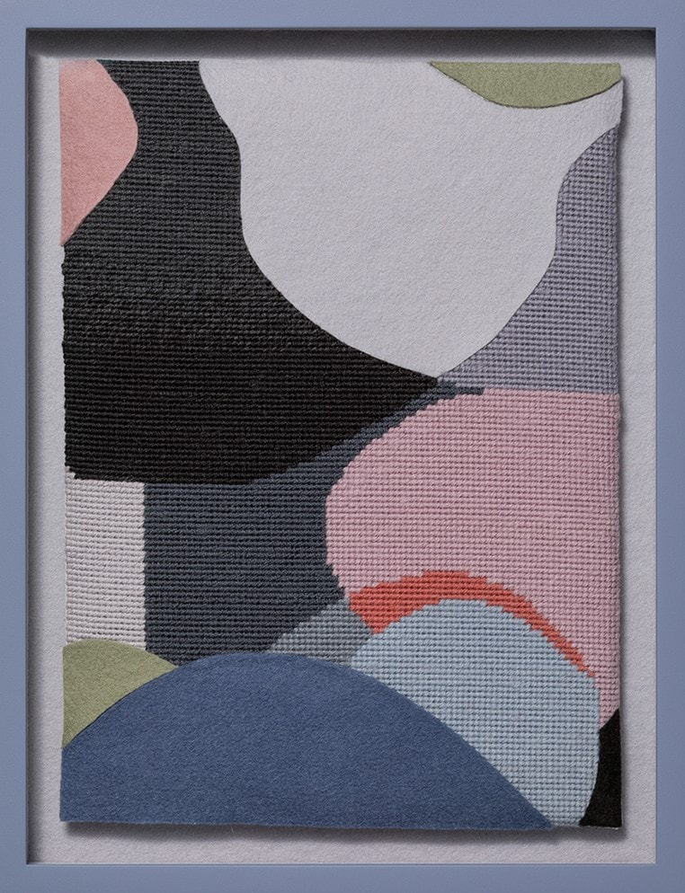 Jennifer Goodman, Lana 2, tapestry and felt, 35x25cm framed