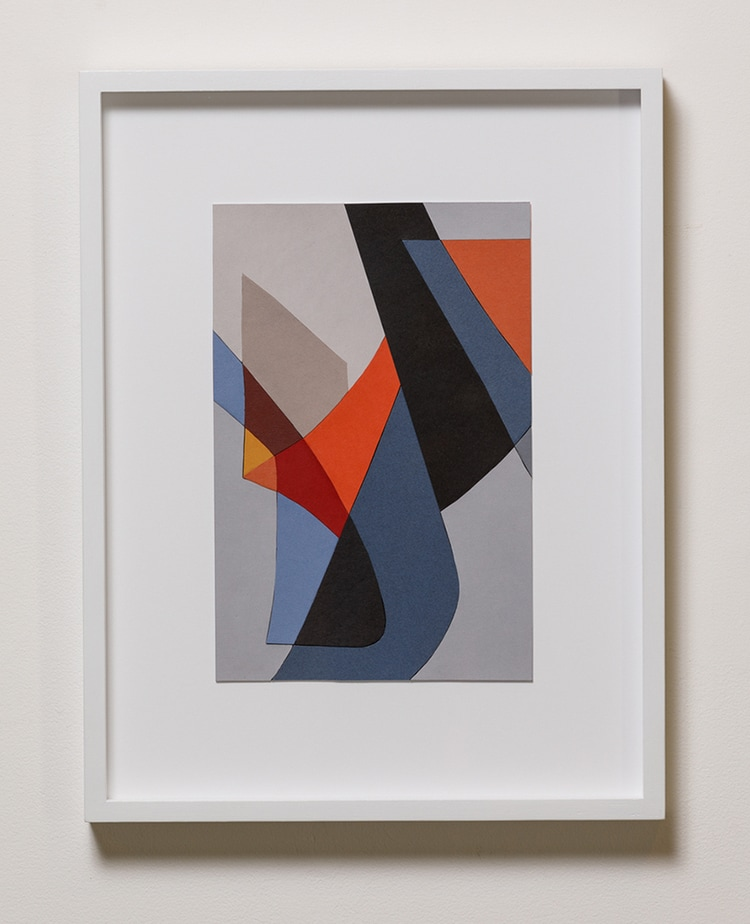 Jennifer Goodman, Paper Amble, framed