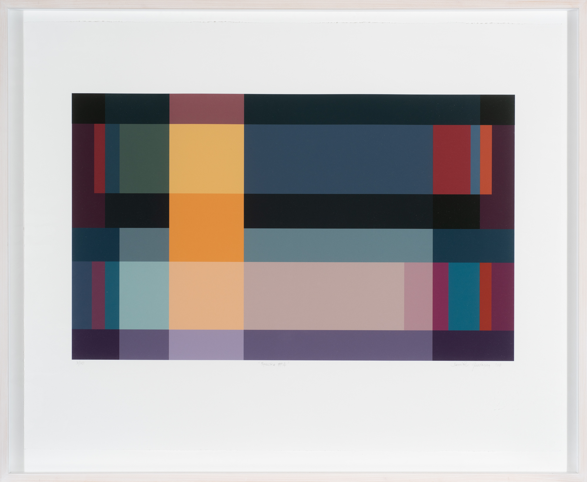 Jennifer Goodman, Spectra 4, 2010, pigment print on cotton rag, 35x58cm