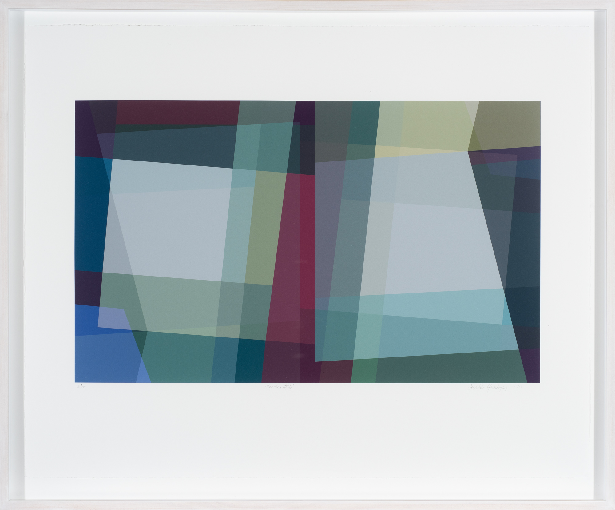 Jennifer Goodman, Spectra 6 2010 pigment print on cotton rag 35x58cm