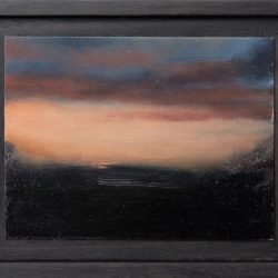 Kirrily Hammond, Anthea's Sunset, Oil On Copper, 9.0 X 12.0 Cm (image); 15.3 X 12.3 X 3.7 Cm (frame)