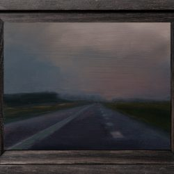 Kirrily Hammond, Autobahn II, 2017, Oil On Copper, 9x12cm