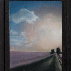 Kirrily Hammond, Back Road, Oil On Copper, 12.0 X 9.0 (image); 15.3 X 12.3 X 3.7 Cm (frame)