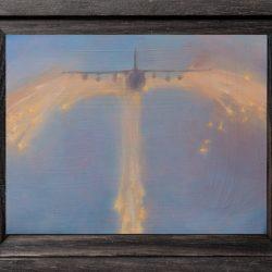 Kirrily Hammond, Break Up, 2017, Oil On Copper, 9x12cm (image); 15.3 X 12.3 X 3.7 Cm (frame)