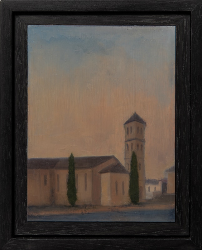 Kirrily Hammond, Christ Church, Brunswick, 2017, oil on copper, 12x9cm