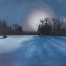 Kirrily Hammond, Ciney Snow, Belgium 2017, Oil On Linen, 30x30cm