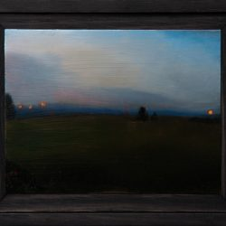 Kirrily Hammond, Field, Oil On Copper, 9.0 X 12.0 Cm (image); 15.3 X 12.3 X 3.7 Cm (frame)