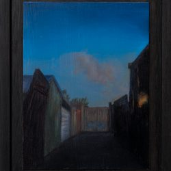 Kirrily Hammond, Melbourne Laneway, 2017, Oil On Copper, 12x9cm