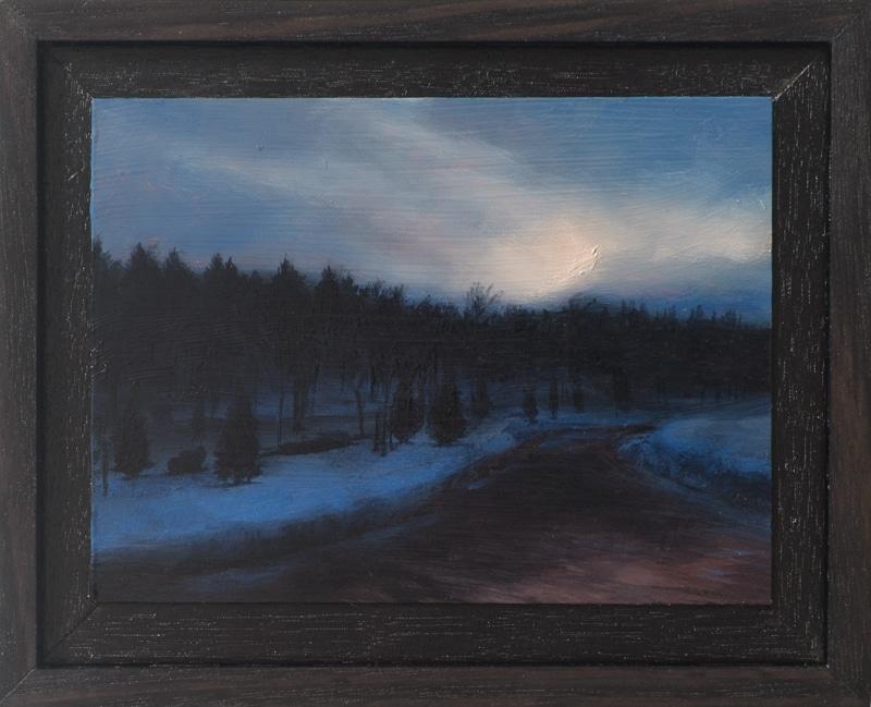 Kirrily Hammond, River in Ciney, oil on copper, 9.0 x 12.0 cm
