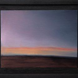 Kirrily Hammond, Road Home, 2017, Oil On Copper, 9x12cm