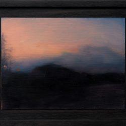 Kirrily Hammond, Roadside Landscape, Oil On Copper, 9.0 X 12.0 Cm (image); 15.3 X 12.3 X 3.7 Cm (frame)