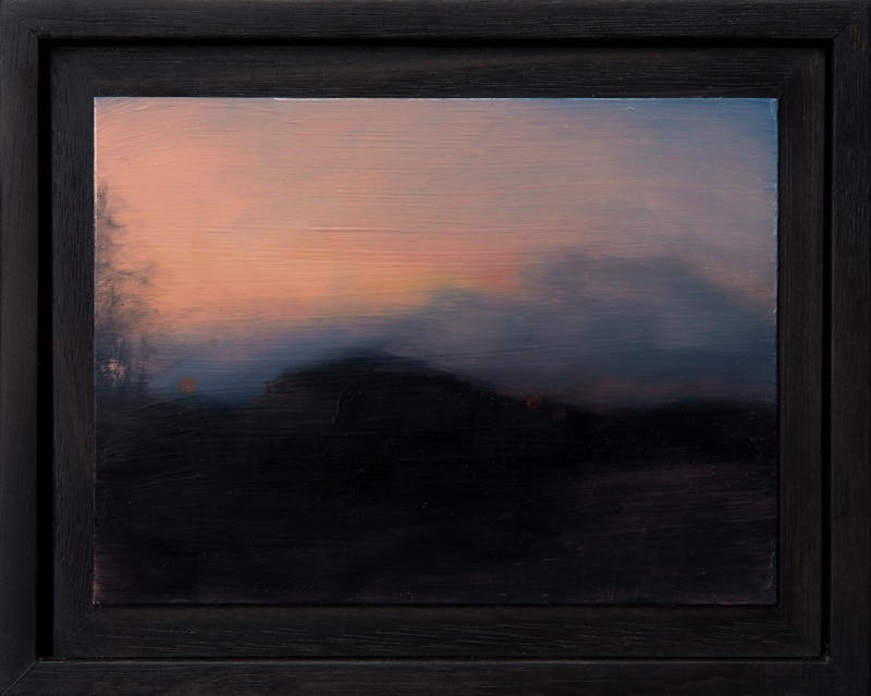 Kirrily Hammond, Roadside landscape, oil on copper, 9.0 x 12.0 cm (image); 15.3 x 12.3 x 3.7 cm (frame)