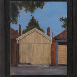 Kirrily Hammond, Thornbury Laneway, 2017, Oil On Copper, 12x9cm