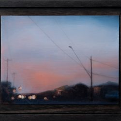 Kirrily Hammond, West Brunswick, 2017, Oil On Copper, 9x12cm (image); 12.3x15.3x3.7cm (frame)
