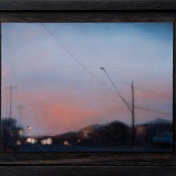 Kirrily Hammond, West Brunswick, 2017, Oil On Copper, 9x12cm (image); 12.3x15.3x3.7cm (frame)