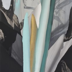 Kirstin Berg, Monument II, Pigment, Ash, Pins On Paper, 240x120cm