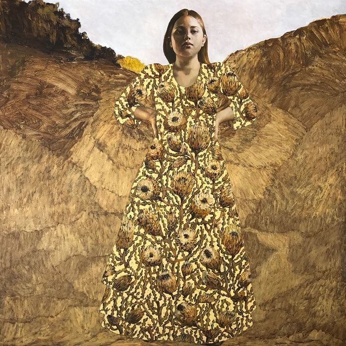 Lori Pensini, Bloom, 150x150cm