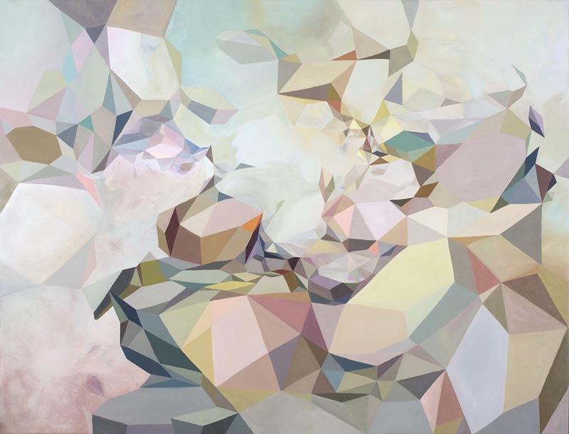 Lyndal Hargrave, Prismatics, 92x122cm
