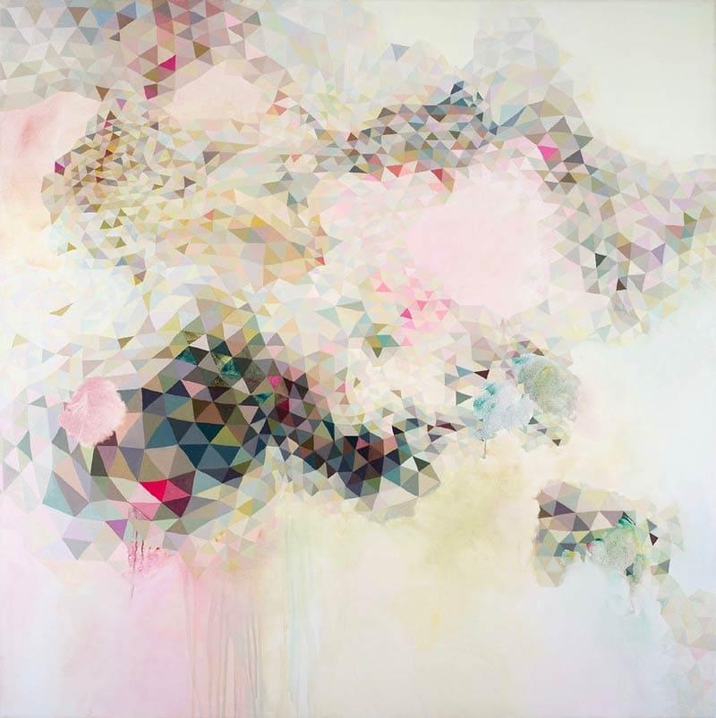 Lyndal Hargrave, Space Between Stars, 120x120cm