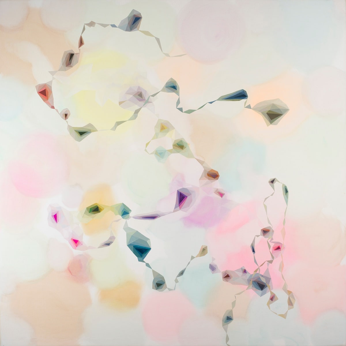 Lyndal Hargrave, A Hundred Floating Wishes, 150 x 150cm