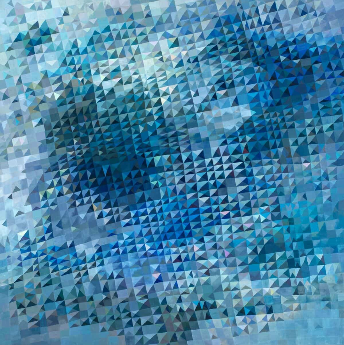 Lyndal Hargrave, Blue Kyanite, oil on linen, 122x122cm
