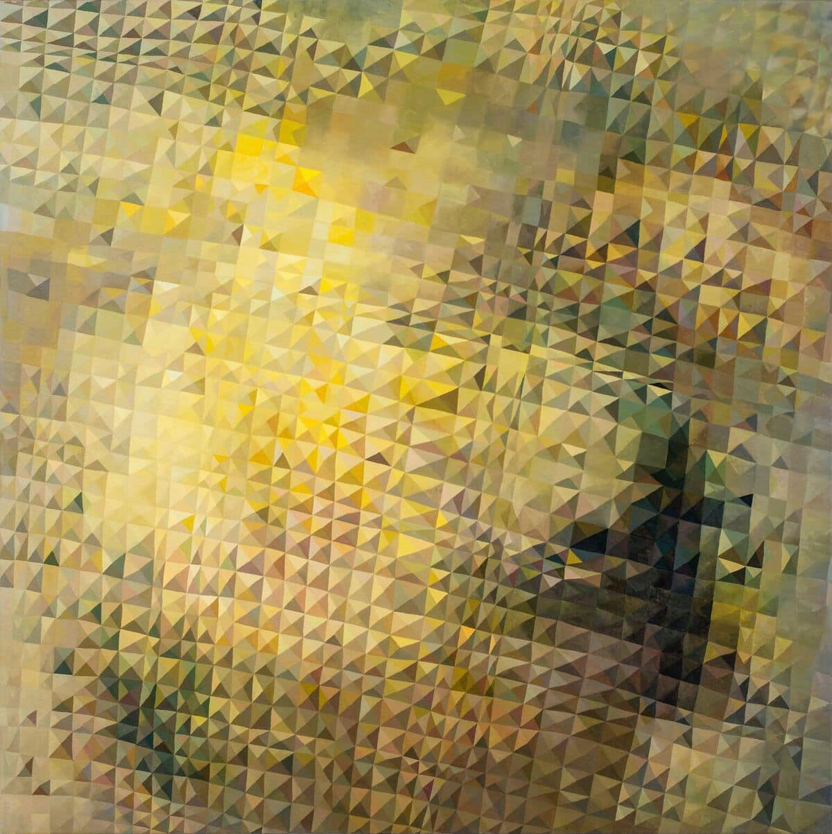Star Lemon Quartz by Lyndal Hargrave, 120x120cm