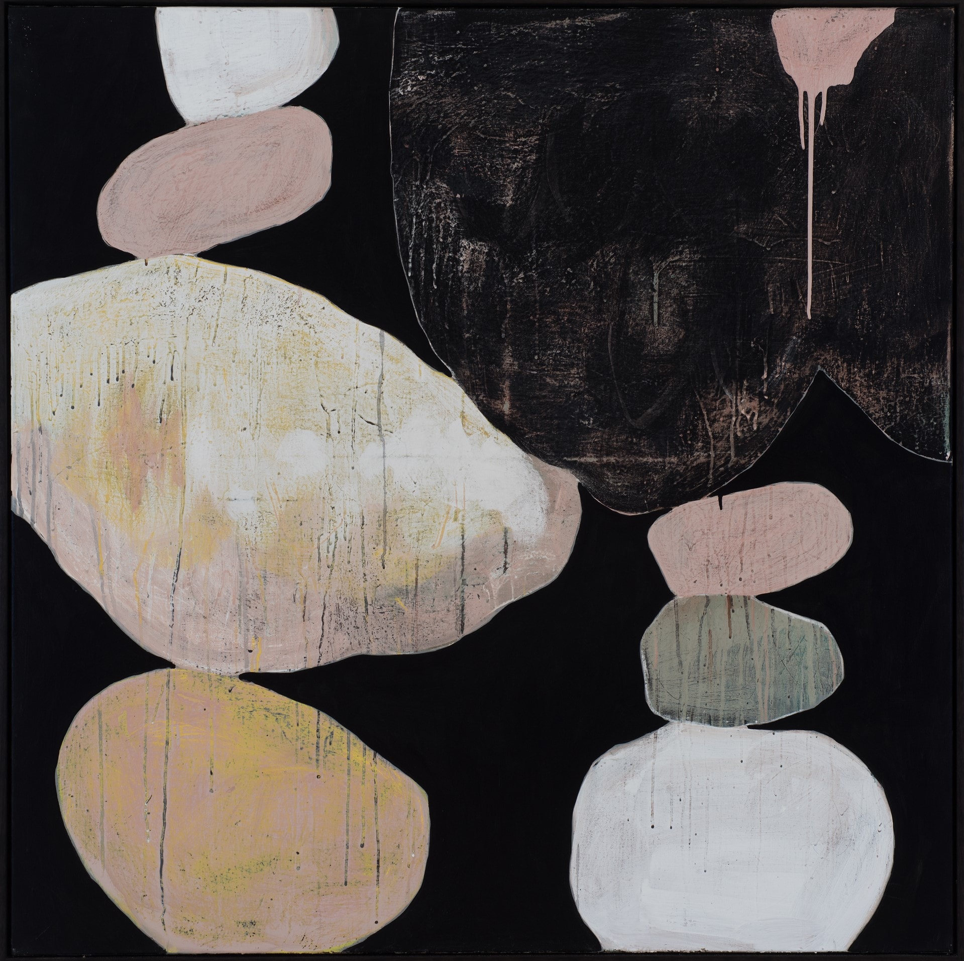 Ngaio Lenz, No. 108, 2017, mixed media on canvas, 122x122cm