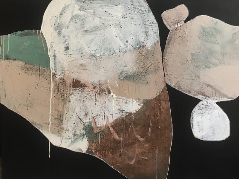 Ngaio Lenz, #109, 2017, mixed media on canvas, 91x122cm