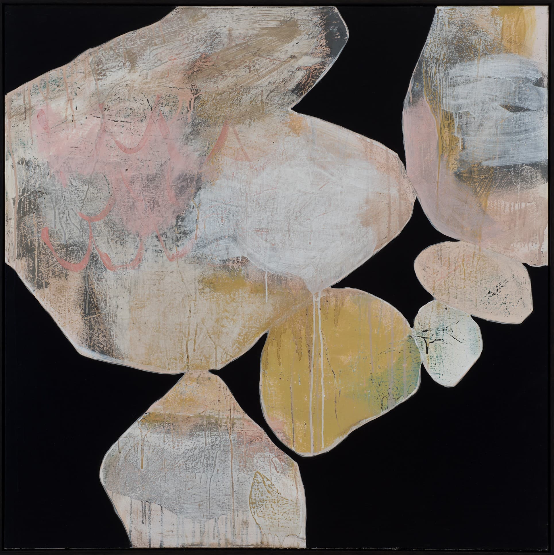 Ngaio Lenz, 111, mixed media on canvas, 120x120cm