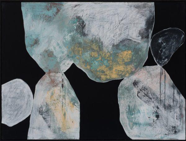 Ngaio Lenz, #113, 2017, mixed media on canvas, 91x122cm